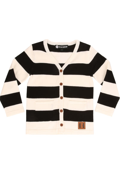 Black And White Premium Knit Cardigan