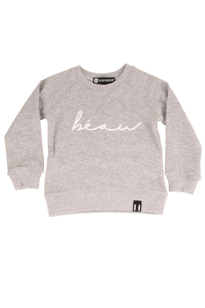 Beau Crew Neck Sweater Grey