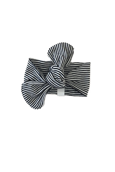 Black and White Striped Headband