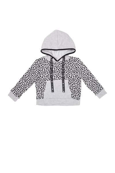Box Hoodie Sweat Light Grey Marle Spot