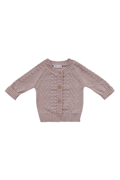 Cable Cardigan Rose Smoke