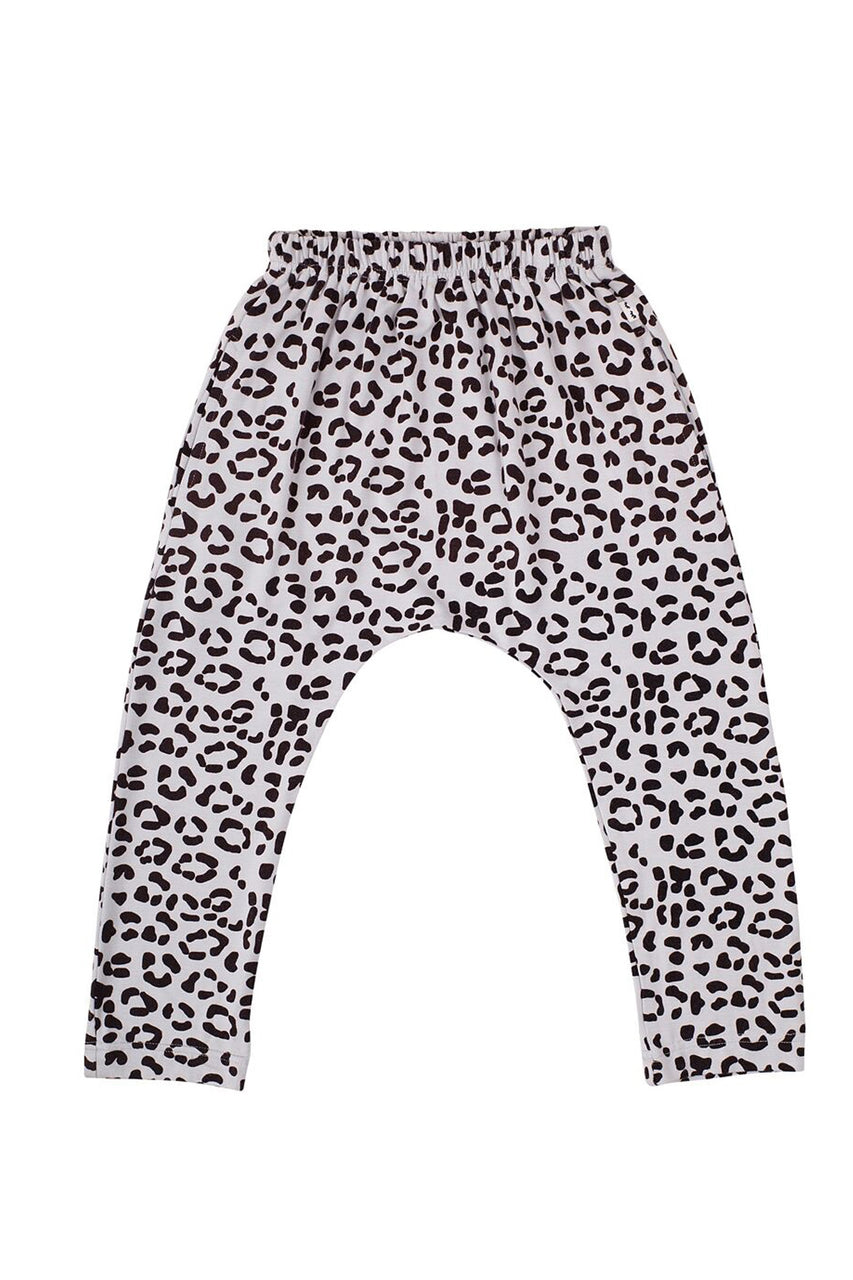 Chillax Pant Light Grey Leopard