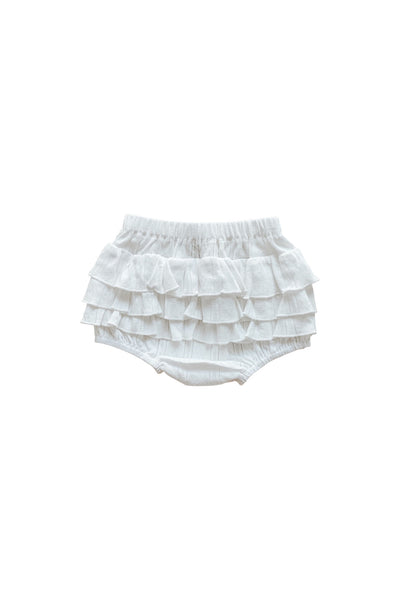 Coconut Pointelle Ruffle Bum Bloomer