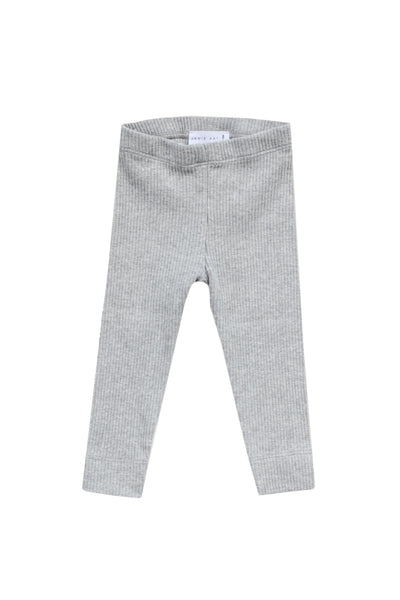Cotton Modal Leggings Light Grey Marle