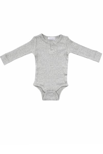 Cotton Modal Bodysuit Light Grey Marle