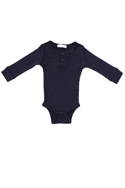 Cotton Modal Bodysuit Dark Grey