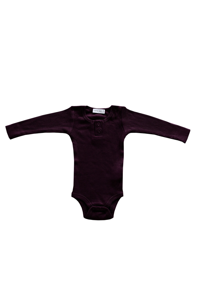 Cotton Modal Bodysuit Mulberry