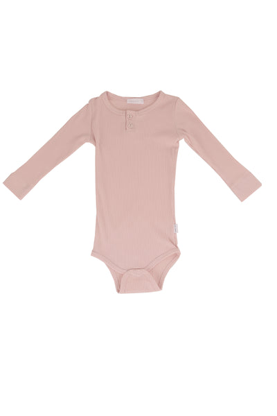 Cotton Modal Bodysuit Old Rose
