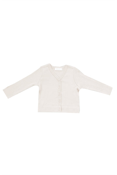 Cotton Modal Cardi Milk