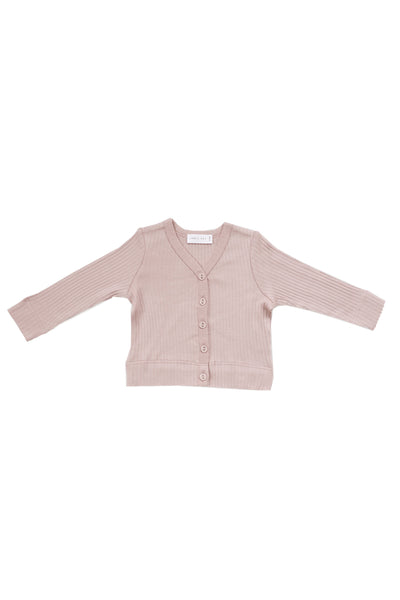 Cotton Modal Cardi Rose Smoke