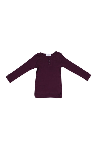 Cotton Modal Henley Fig