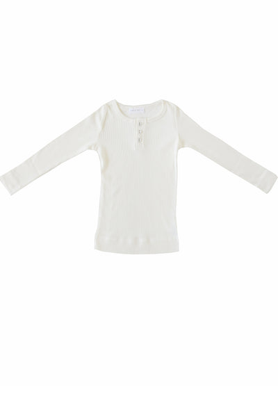 Original Cotton Modal Henley Milk