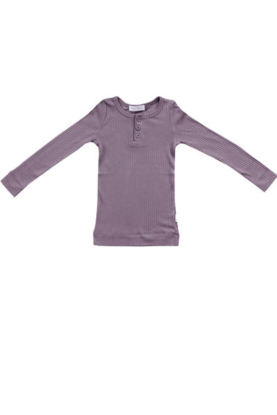 Cotton Modal Henley Dusk
