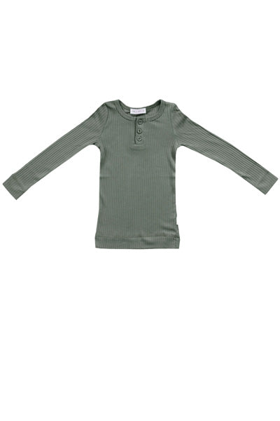 Cotton Modal Henley Laurel