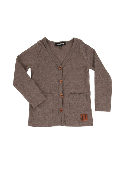 Dark Grey Marle Signature Cardigan