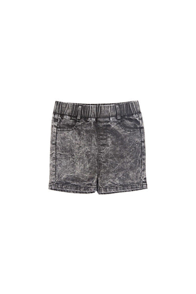 Denim Boys Shorts Acid Black