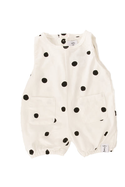 Dotty Romper White