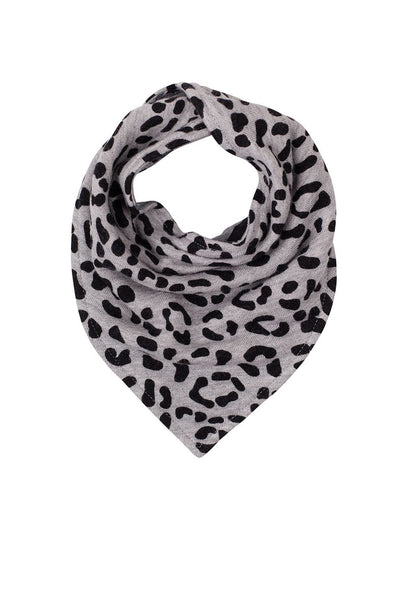 Double Sided Bib Grey Marle Star // Leopard