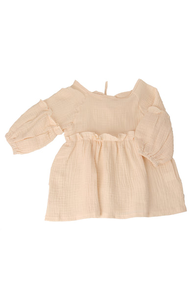 Pippy Ruffle Dress Beige