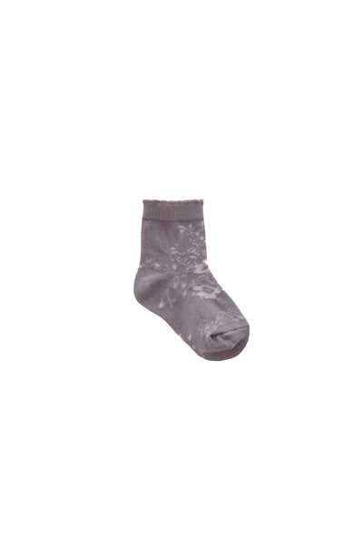 Emme Floral Sock Fawn