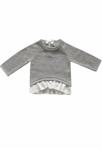 Frill Knit Light Grey Marle