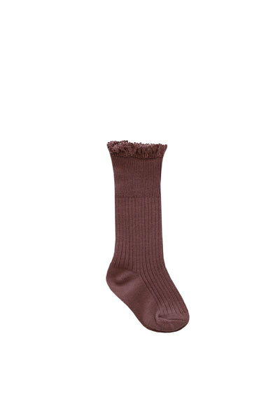 Frill Sock Antique Rose