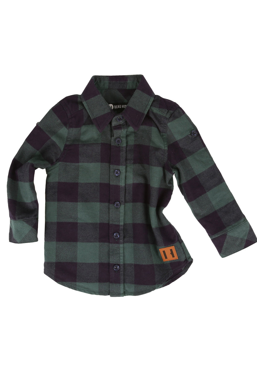 Green And Navy Buffalo Shirt