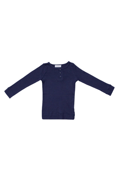 Cotton Modal Henley Navy