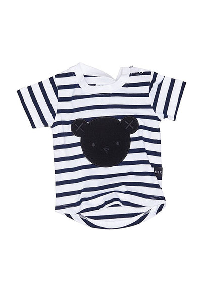 Hux Stripe T shirt Navy White