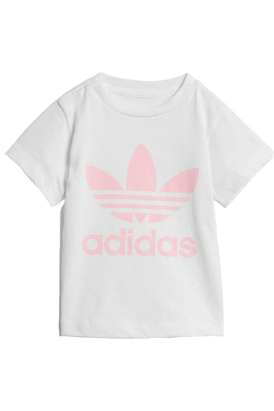 Infant Trefoil Tee White Light Pink