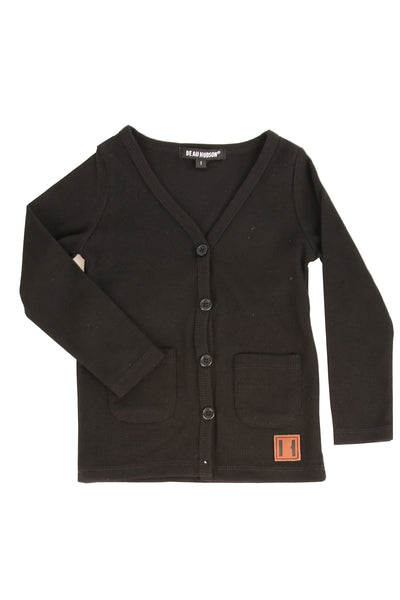 Jet Black Signature Cardigan
