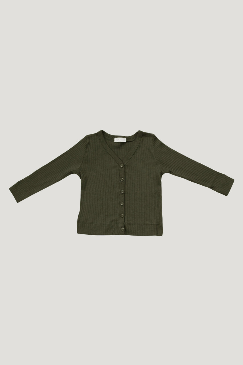 Original Cotton Modal Cardi Olive