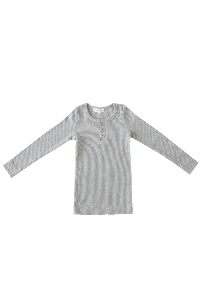 Original Cotton Modal Henley Grey Marle