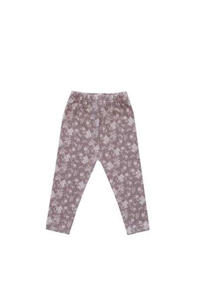 Organic Cotton Legging Fawn Floral
