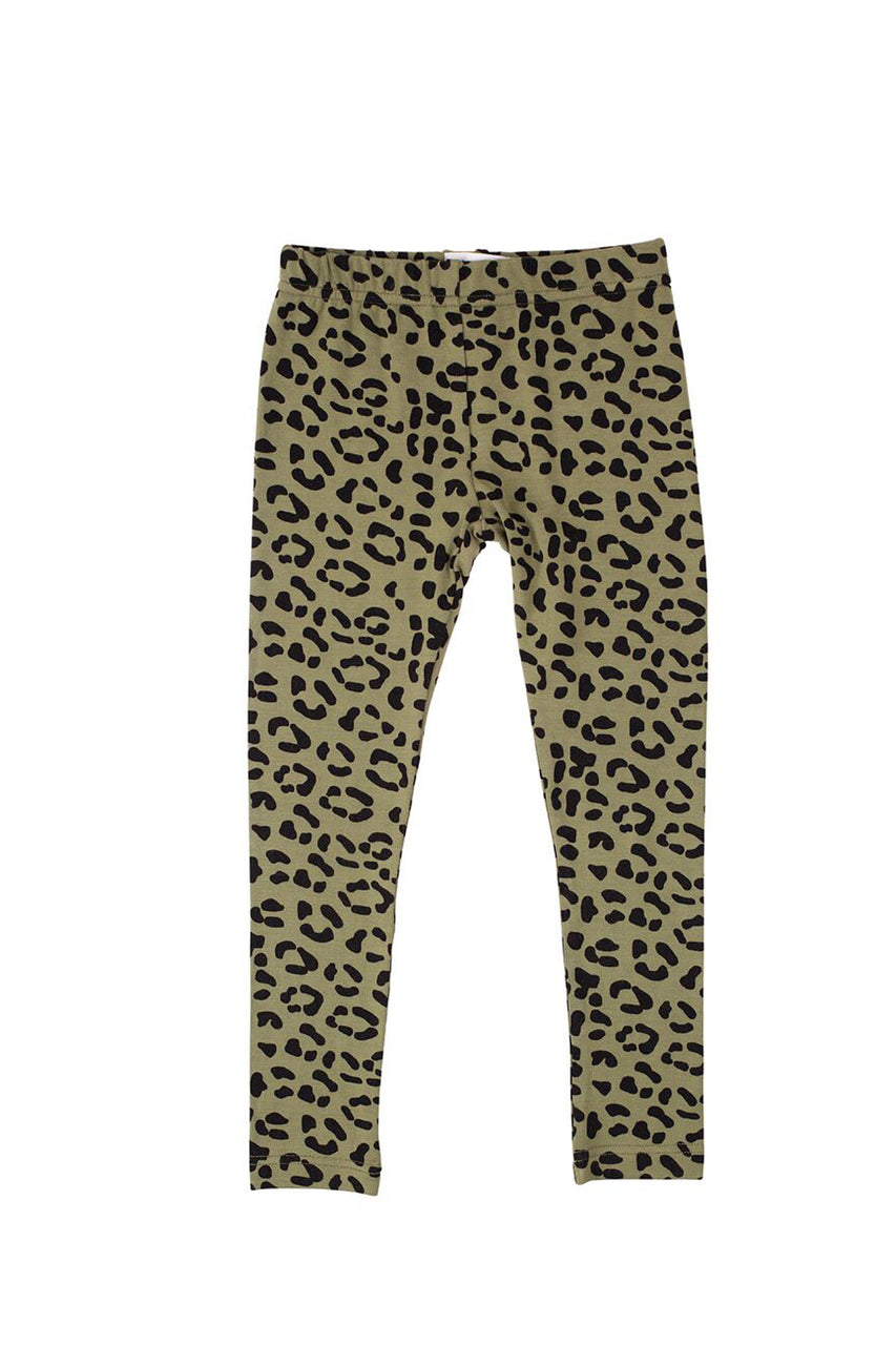 Leggings Khaki Leopard