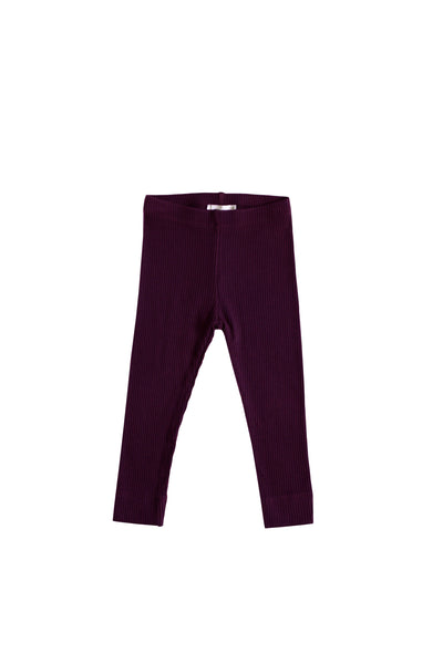 Cotton Modal Legging Mulberry