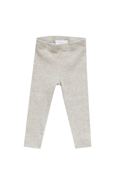 Cotton Modal Leggings Oatmeal Marle
