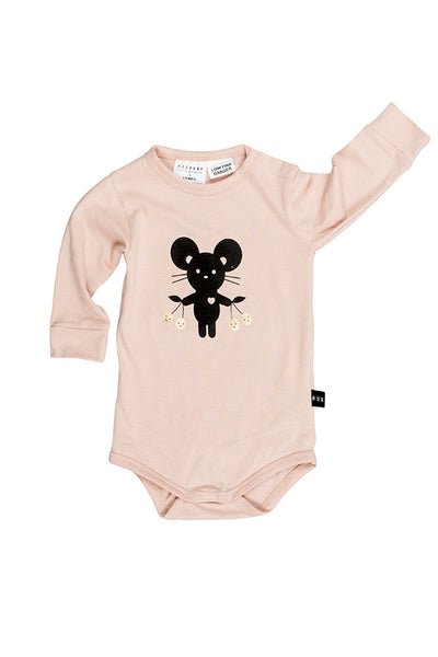 Mouse Long Sleeve Onesie Tearose