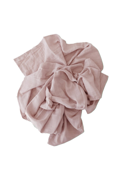 Cotton Muslin Wrap Blanket Rosy