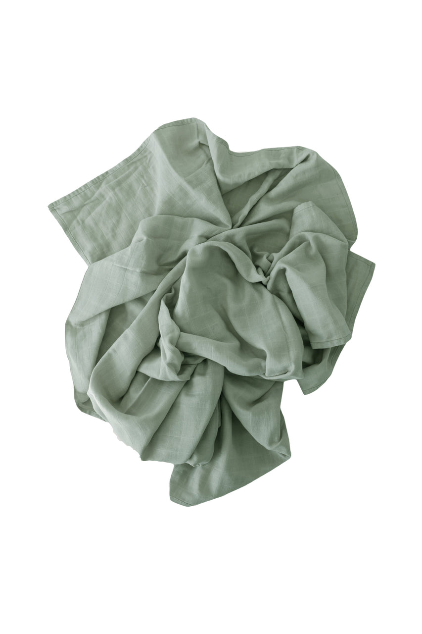 Cotton Muslin Wrap Blanket Sage