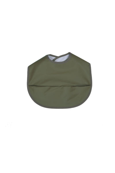 Olive Snuggle Bib Waterproof