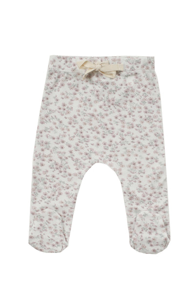 Organic Cotton Footed Pants Posy Floral