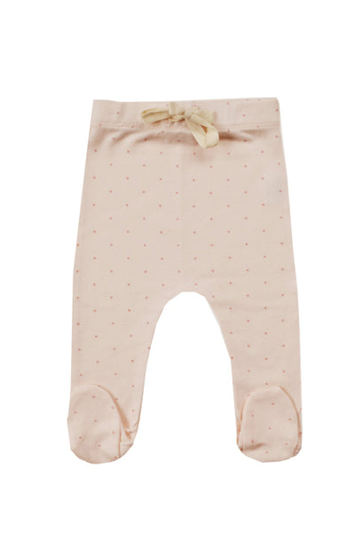 Organic Cotton Footed Pants Tiny Dots Posy