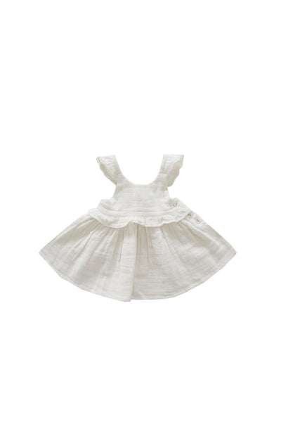 Organic Cotton Muslin Lola Top Coconut