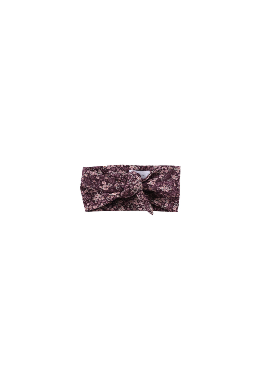 Organic Cotton Headband Vintage Floral