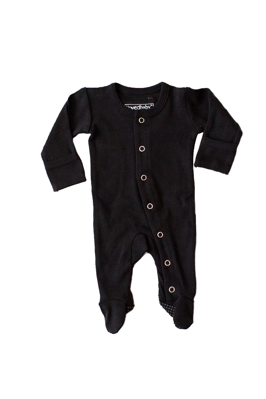 Organic Footed Overall Black