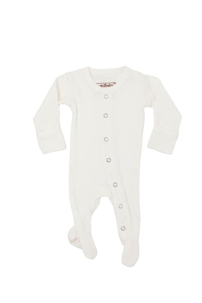 Organic Footed Overall White