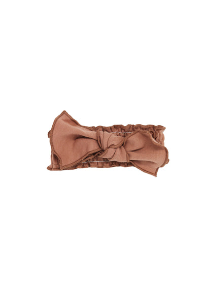 Organic Smocked Headband Nutmeg