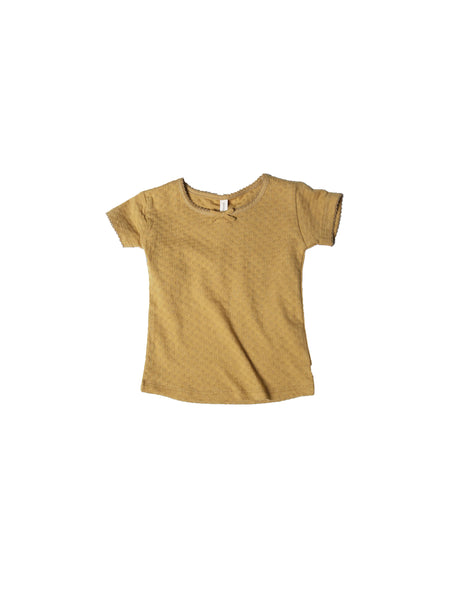 Pointelle Short Sleeve Tee Honey