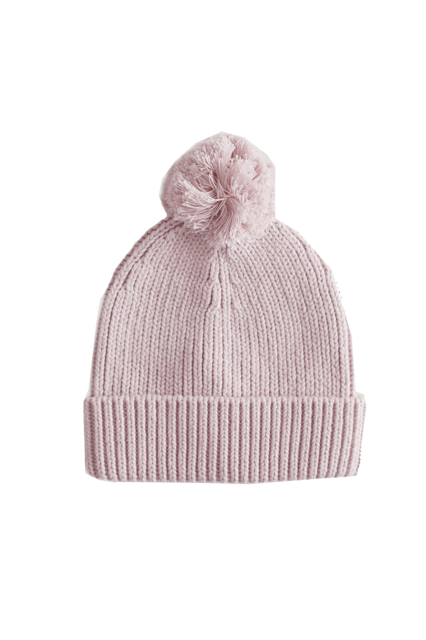 Pom Pom Hat Rose Smoke